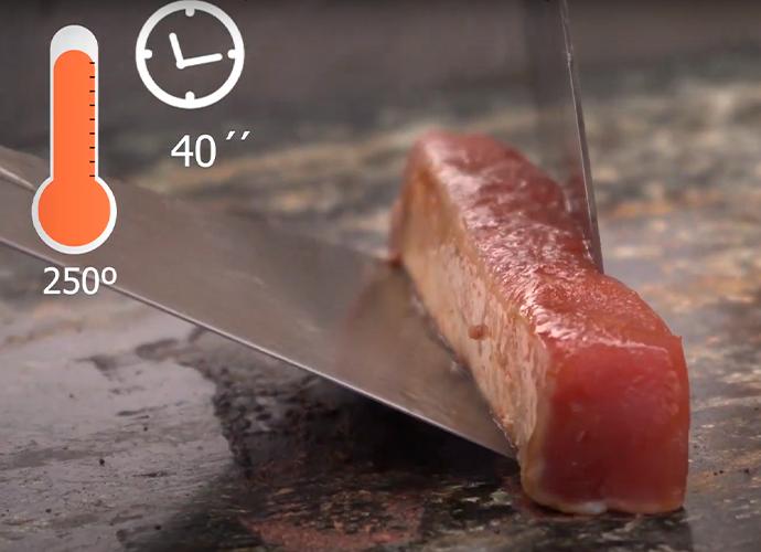 cocinando Tataki de atún